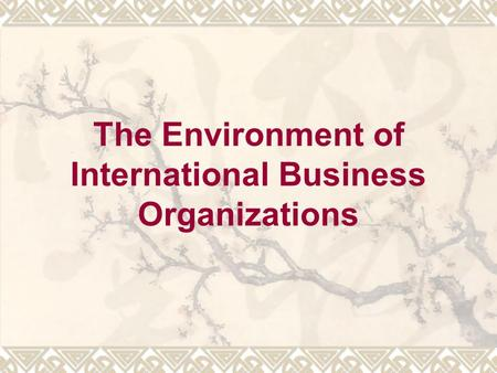 business organization and environment The organisation has to look after the interest of stakeholders like shareholders,  consumers, workers, suppliers etc the environment also offers threats and.