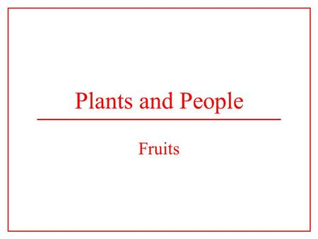 Plants and People Fruits. The Carpel The carpel is the basic unit of the gynoecium. Each carpel consists of an ovary connected to a stigma by the style.