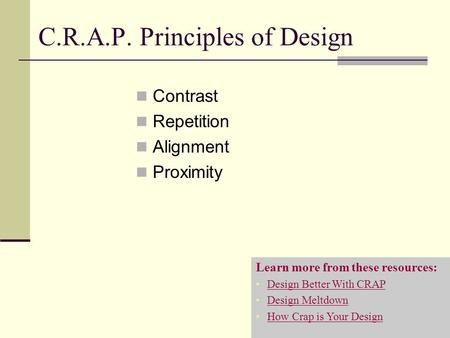 C.R.A.P. Principles of Design