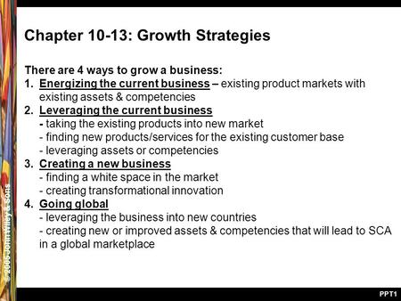 Chapter 10-13: Growth Strategies