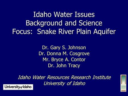 Idaho Water Resources Research Institute