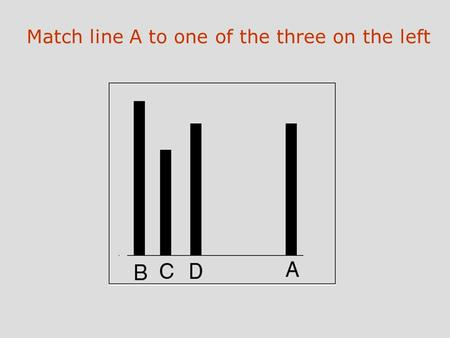 Match line A to one of the three on the left. What percentage of people went along?