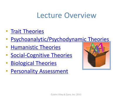 psychoanalytic and trait approaches to personality essay