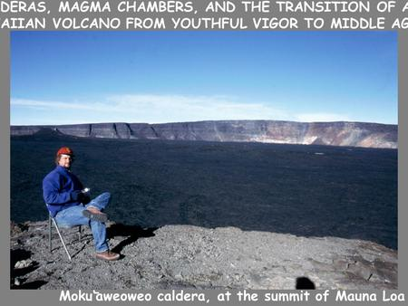 Moku'aweoweo caldera, at the summit of Mauna Loa - CALDERAS, MAGMA CHAMBERS, AND THE TRANSITION OF A HAWAIIAN VOLCANO FROM YOUTHFUL VIGOR TO MIDDLE AGE.