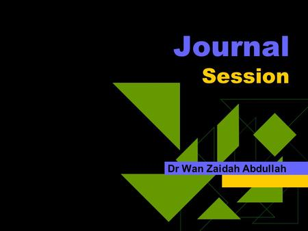 Journal Session Dr Wan Zaidah Abdullah. Agenda  Heparin resistance  BJA, 2002 vol 88, no 4, 467-469  J A M Anderson and E L Saenko.