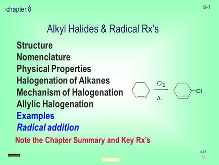 Alkyl Halides & Radical Rx's
