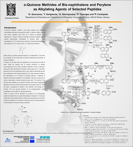 O-Quinone Methides of Bis-naphthalene and Perylene as Alkylating Agents of Selected Peptides 2 A. Saravanos, 1 Y. Sarigiannis, 1 G. Stavropoulos, 2 P.