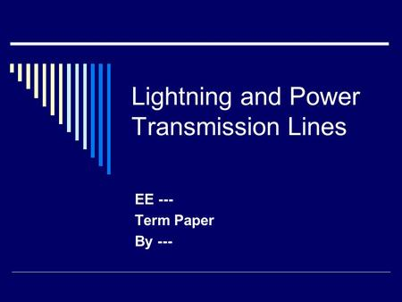 Lightning term papers