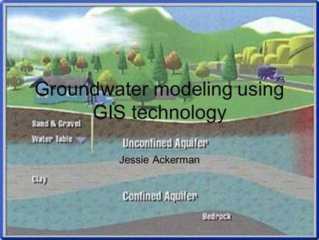 Groundwater modeling using GIS technology Jessie Ackerman.