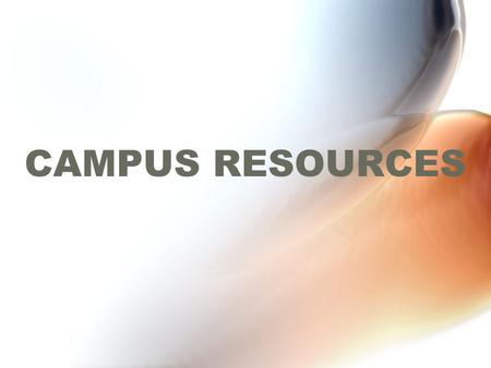 CAMPUS RESOURCES. CCSU ACADEMIC AFFAIRS STUDENT AFFAIRS FACILITIES ADMINISTRATIVE AFFAIRS UNIVERSITY ORGANIZATIONAL CHART.