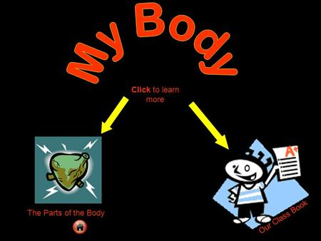 My Body Click to learn more The Parts of the Body Our Class Book.