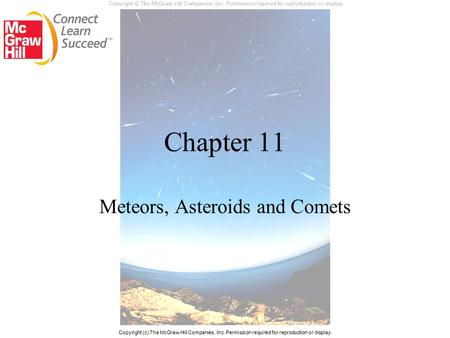 Meteors, Asteroids and Comets