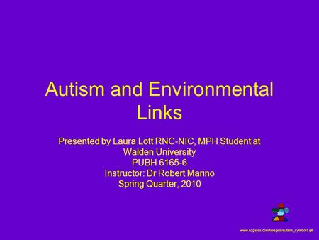 Autism and <strong>Environmental</strong> Links