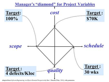 "Manager's ""diamond"" for Project Variables"