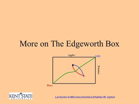Lectures in Microeconomics-Charles W. Upton More on The Edgeworth Box.
