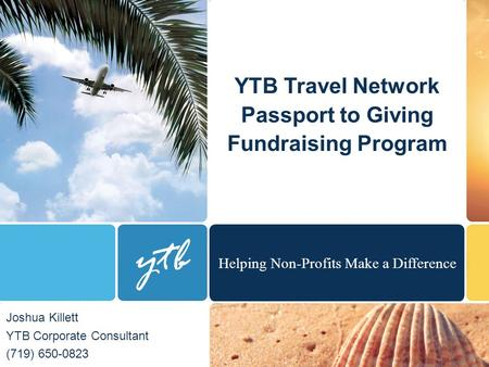 YTB Travel Network Passport to Giving