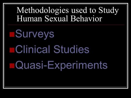 Sexual intimacy clinical study