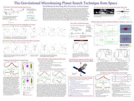 The Gravitational Microlensing Planet Search Technique from Space David Bennett & Sun Hong Rhie (University of Notre Dame) Gravitational Lensing Time Series.