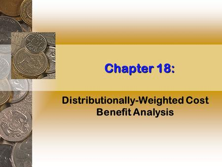 Chapter 18: Distributionally-Weighted Cost Benefit Analysis.