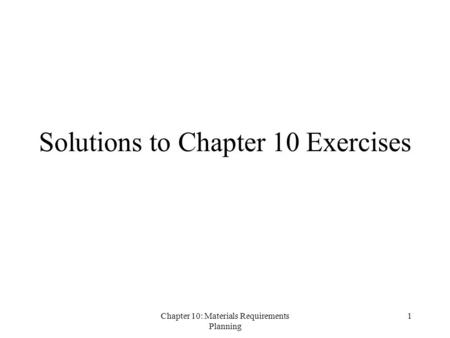 chapter 2 exercises problems solutions
