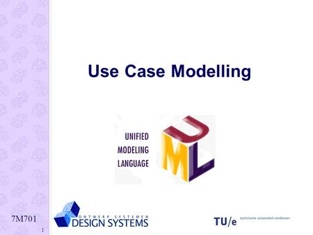 7M701 1 Use Case Modelling. 7M701 2 Use Case Diagram Example.