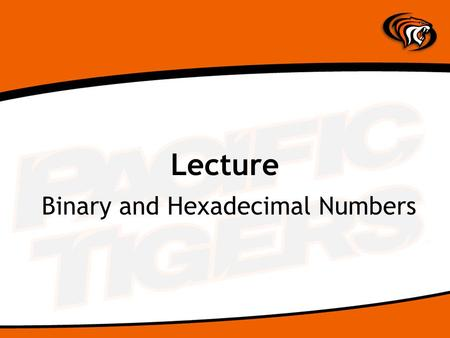 Lecture Binary and Hexadecimal Numbers. How Machines Think Computers handle two types of information: –Instructions –Data The words of a machine language.