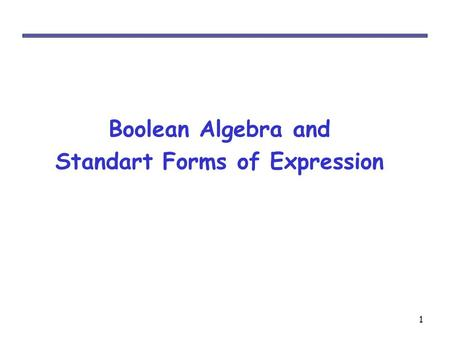 Standart Forms of Expression