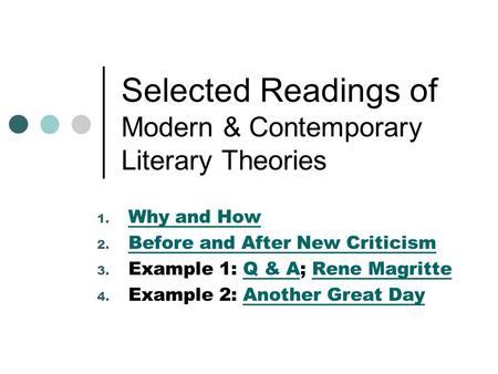 modern literary criticism and theory pdf
