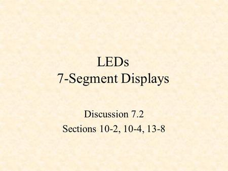 LEDs 7-Segment Displays