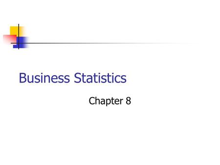 Business Statistics Chapter 8. Bell Shaped Curve Describes some data sets Sometimes called a normal or Gaussian curve – I'll use normal.