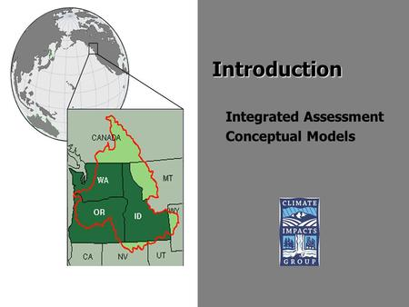 Introduction Integrated Assessment Conceptual Models.