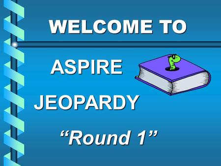 "WELCOME TO WELCOME TOASPIREJEOPARDY ""Round 1"" $500 $400 $300 $200 $500 $400 $300 $200 $500 $400 $300 $200 $500 $400 $300 $400 $500 $100 $200 $100 Child."