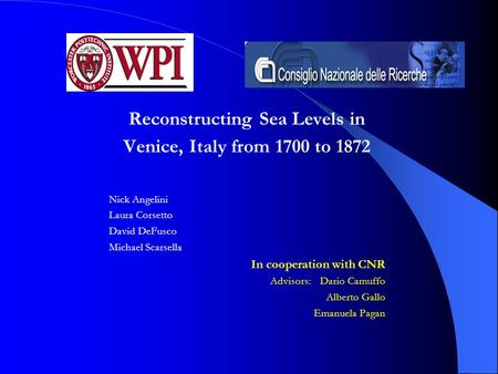 Reconstructing Sea Levels in