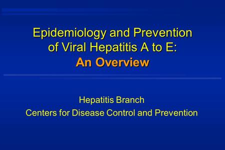 What's to know about viral hepatitis?