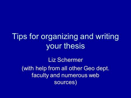 Thesis and assignment writing by berry h durston