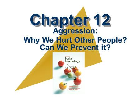 Aggression: Why We Hurt Other People? Can We Prevent it?