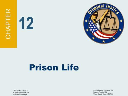 12 Prison Life CHAPTER CRIMINAL JUSTICE A Brief Introduction, 5/E