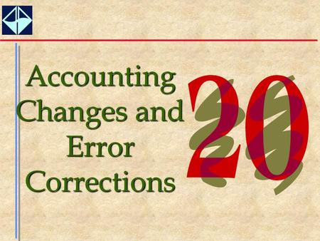1 Accounting Changes and Error Corrections. 2  Understand the three different types of accounting changes that have been identified by accounting standard.