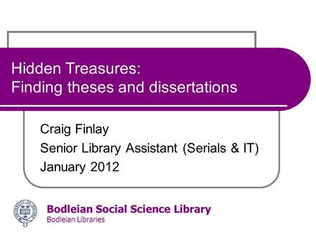 Dissertation abstracts international and social science periodical index