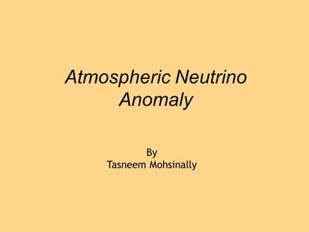 Atmospheric Neutrino Anomaly