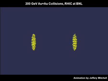 200 GeV Au+Au Collisions, RHIC at BNL Animation by Jeffery Mitchell.