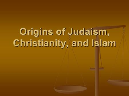 Origins of Judaism, Christianity, and Islam. The three major religions that originated in Southwest Asia are Judaism, Christianity, and Islam. The three.