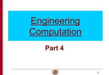 1 Engineering Computation Part 4. 2 Enrique Castillo University of Cantabria An algorithm that permits solving many problems in Algebra. Applications.