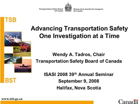 Advancing Transportation Safety One Investigation at a Time
