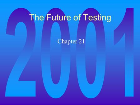 The Future of Testing Chapter 21. Random testing Simply put, if testing is targeted at a particular area, it is because that area is either critical,