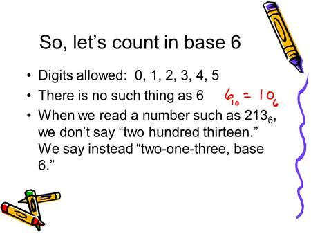 So, let's count in base 6 Digits allowed: 0, 1, 2, 3, 4, 5