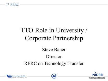 TTO Role in University / Corporate Partnership