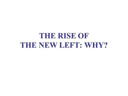 THE RISE OF THE NEW LEFT: WHY?. WHY VENEZUELA? An apparently stable two-party democracy –Rómulo Betancourt and Generation of 1928 –Pact of Punto Fijo.