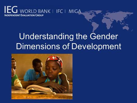 gender equality and the issue of third world development Download the latest gender inequality index data view the gii frequently asked questions gender inequality remains a major barrier to human development.