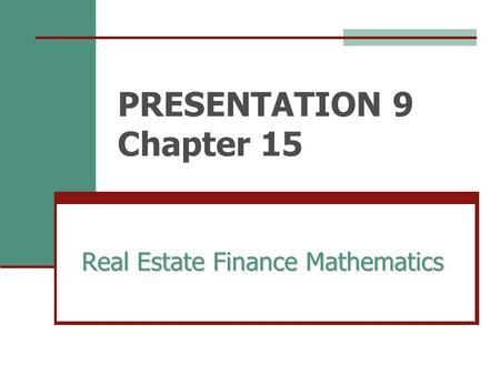 real estate math problems